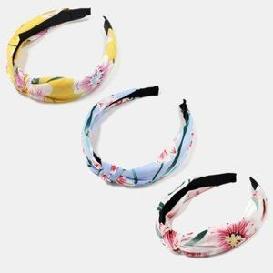 🇺🇸 3/$30 Knotted Cherry Blossom Floral Headbands